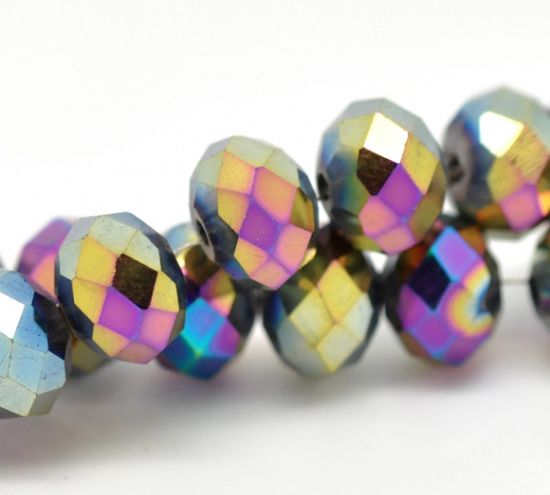 Multi Coloured Crystal Beads